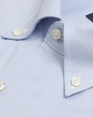 Camisa Oxford azul