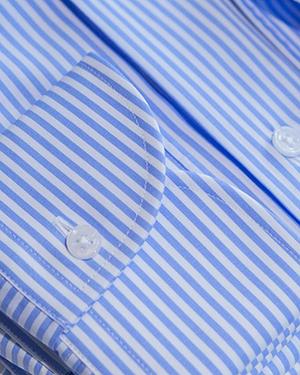 Camisa rayas azul-blanco popelín