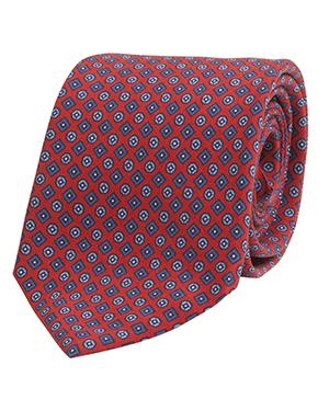 Corbata roja estampada