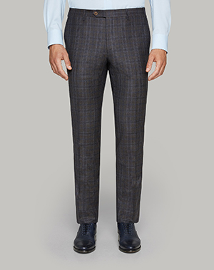 Pantalones cuadros gris